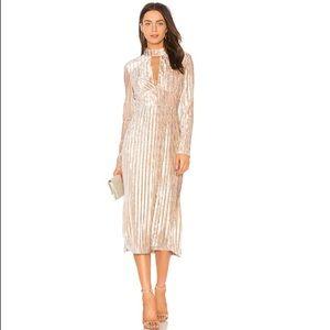 The Jetset Diaries Ribbed Velvet Dress